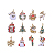 fashion custom gold plated cz merry christmas tree hat charms pendant necklace jewelry for women gifts
