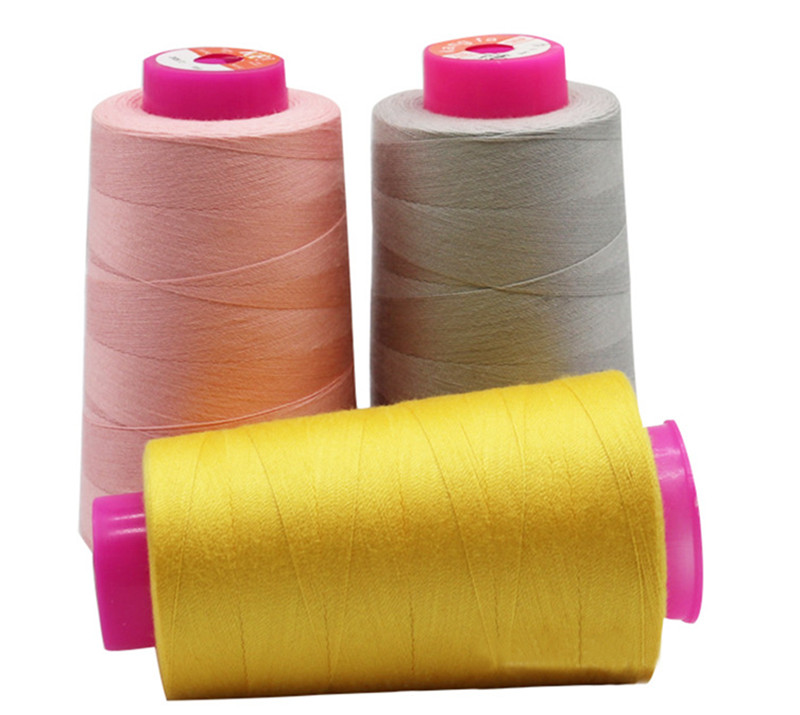 5000 yards yizheng raw material staple fiber <strong>100</strong> spun Polyester sewing thread