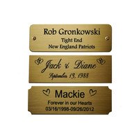 Bulk wholesale custom metal engraved brass name plate sign