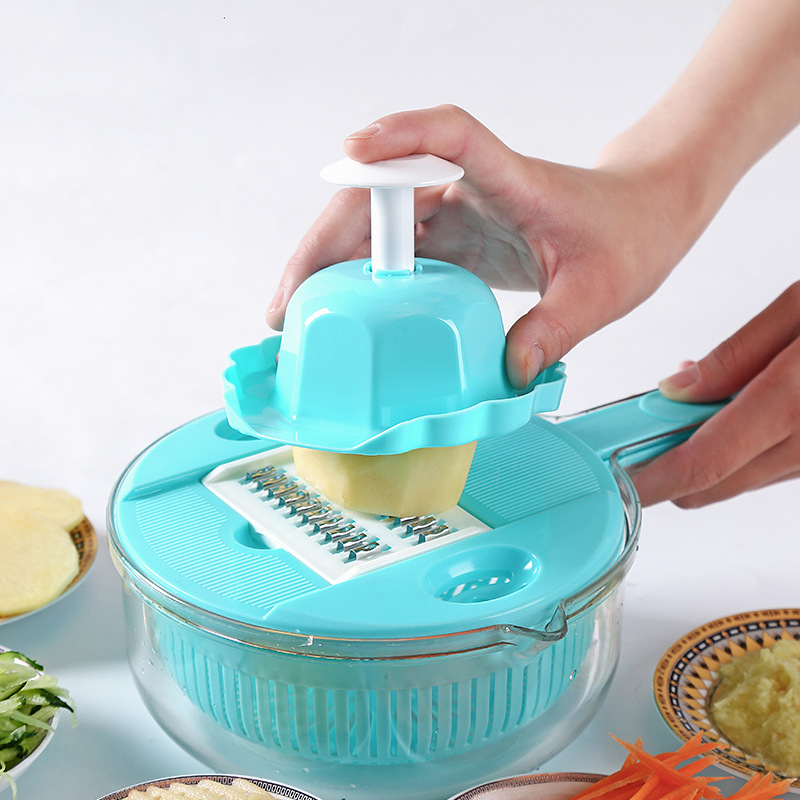 manual plastic vegetable fries onion mandoline <strong>cutter</strong> slicer food chopper grater