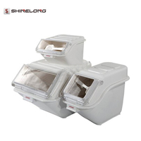 8-40L Plastic Ingredient Bins with Transparent Cover