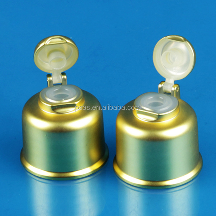 Bell shape 20/410 24/410  plastic hand soap bottle flip top cap shampoo bottle cap with big mouth