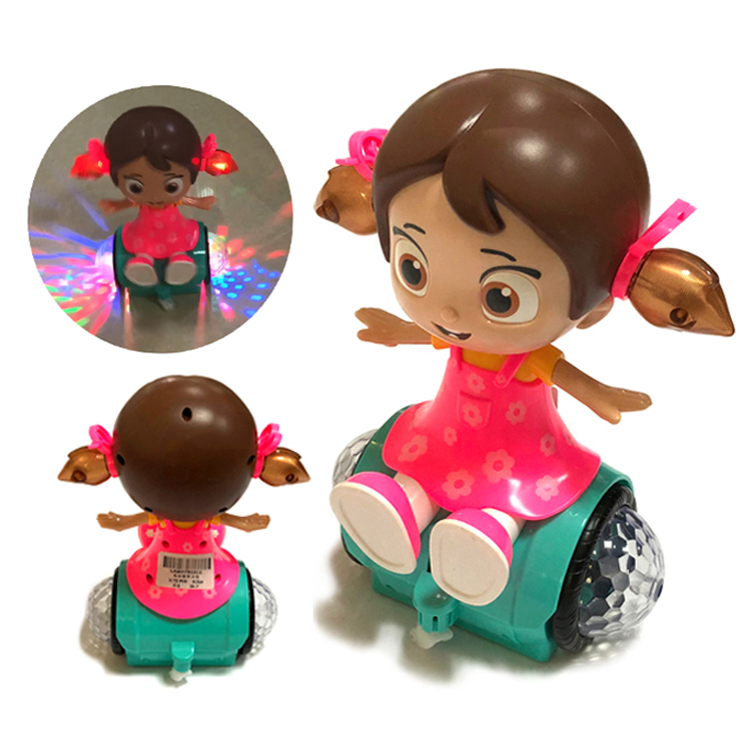 BIS certificate kids toys light sound effect automatic acceleration rotation dance girl <strong>doll</strong>