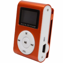 Hot mp3 <strong>player</strong> with 1GB Memory card LCD screen metal clip card gift video mini mp3 <strong>player</strong>