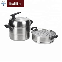 High Quality Stainless Steel Cooking Pot Food Dumpling Steamer Pot With Lid