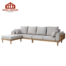 Customizable Simple Modern Wood Corner Sofa Set Living Room <strong>Furniture</strong>