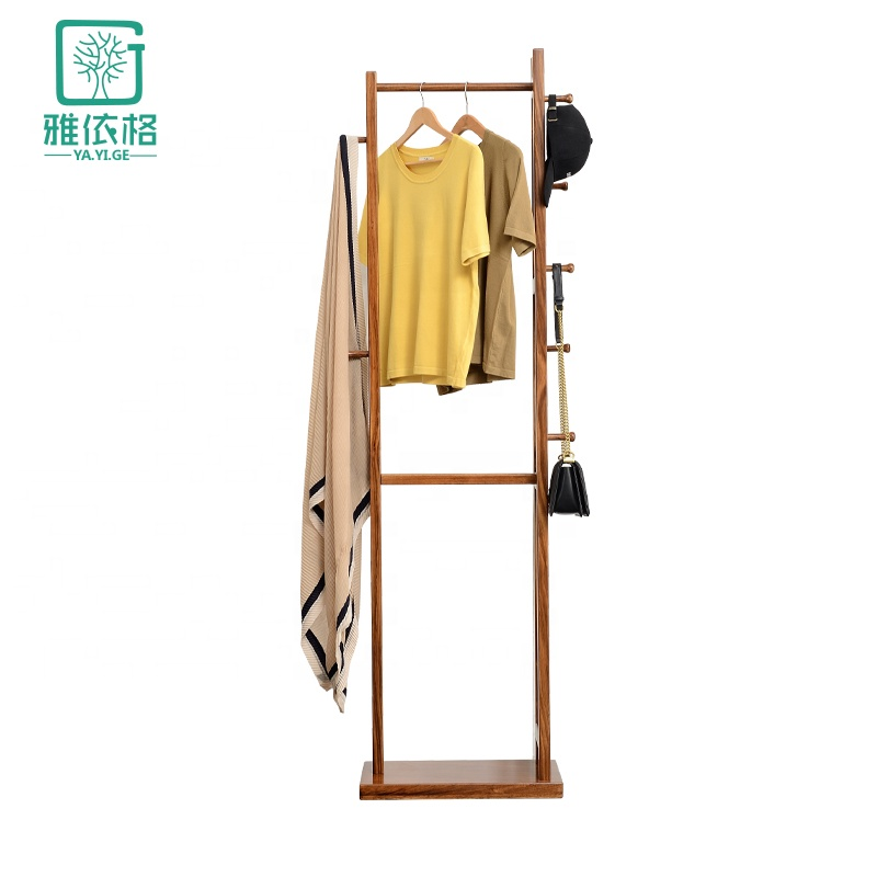 Italian style light luxury floor solid wood <strong>coat</strong> rack for living room and bedroom