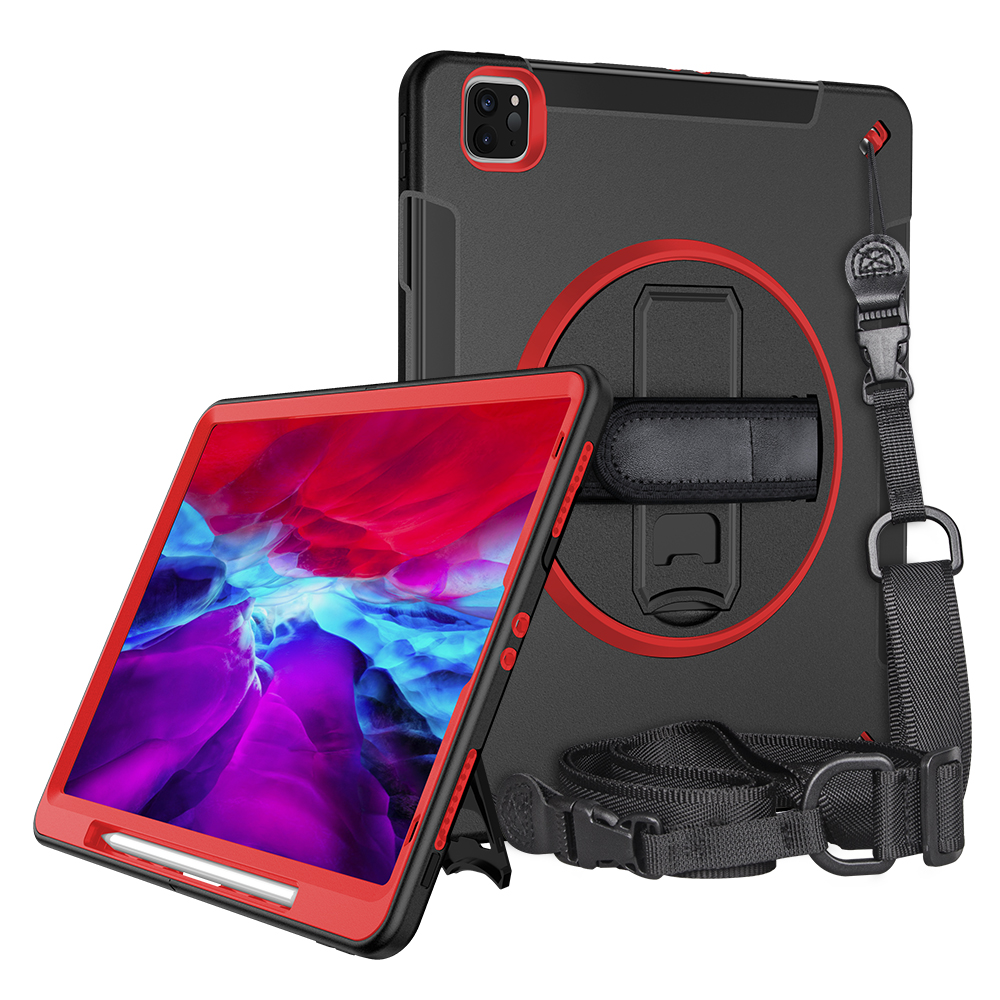 360 Degree Rotating Handheld Shockproof Case With Shoulder Strap Covers For <strong>IPad</strong> Pro 12.9 2020 Case, For <strong>iPad</strong> Cases