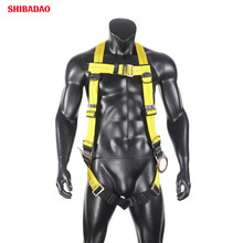 Webbing Lanyard 3 D Rings Pass Thru Chest and Tongue Buckle Legs Fall Arest Protection Universal Padded <strong>Safety</strong> Harness Kit