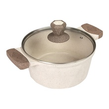 New Arrival Granite Coating Cream Induction Bottom Non Stick Die Cast Aluminum Casserole