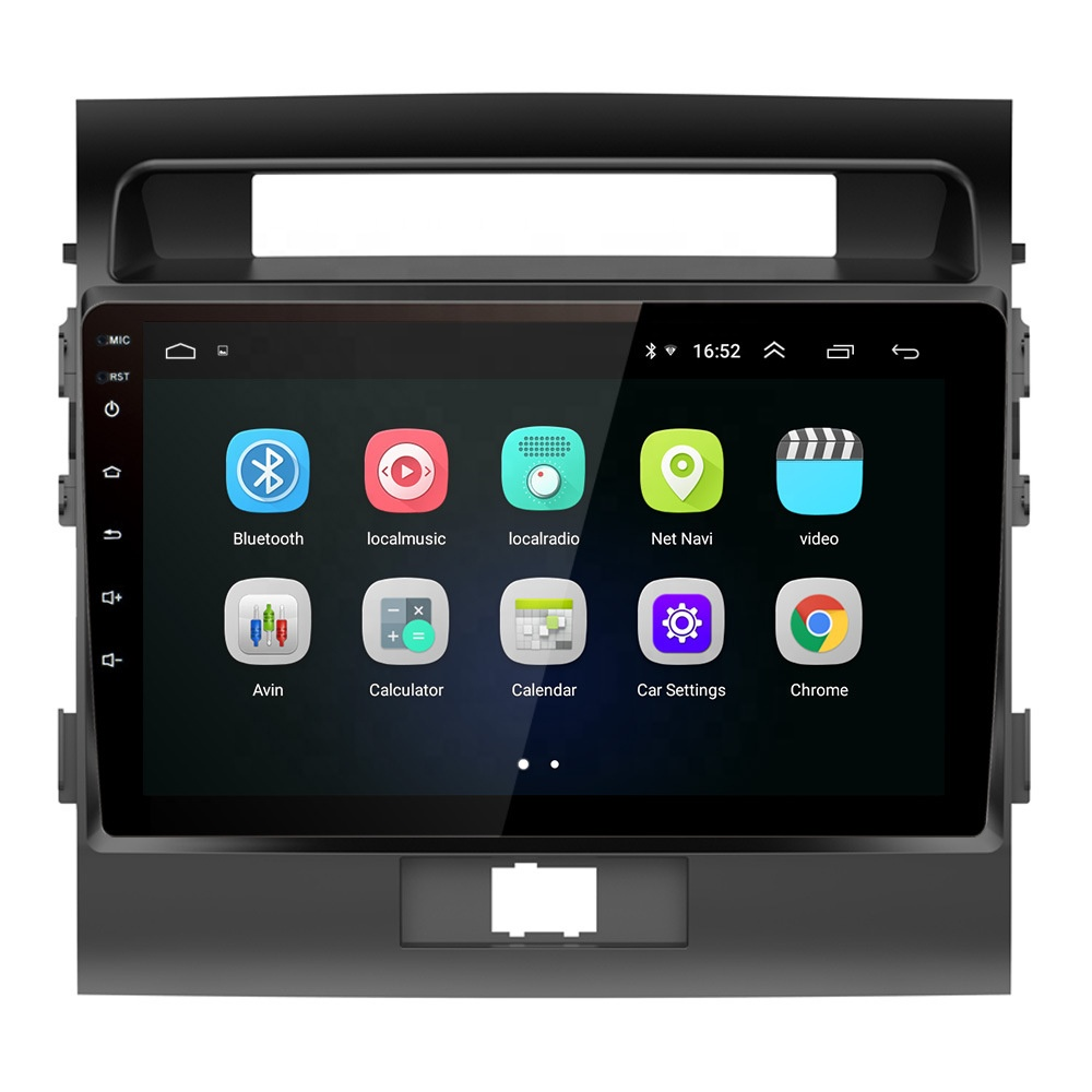The best price OEM Android 8.1 2+16G <strong>d</strong> double din car dvd gps for Land Cruiser 2007-2015