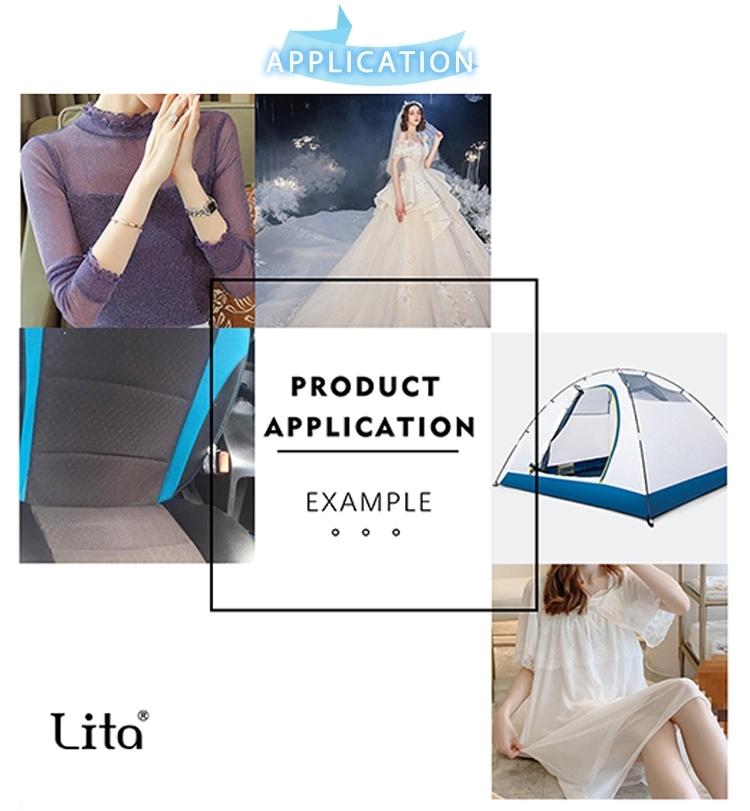 Lita W5109 polyester spot mesh knitting fabric for dress