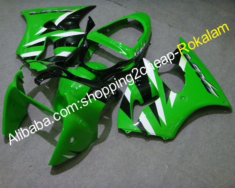 Fairings Set ZX6R For Kawasaki Parts ZX-6R 00 <strong>01</strong> <strong>02</strong> ZX 6R 2000 2001 2002 Green White Black bodywork Motorcycle Fairing Kit