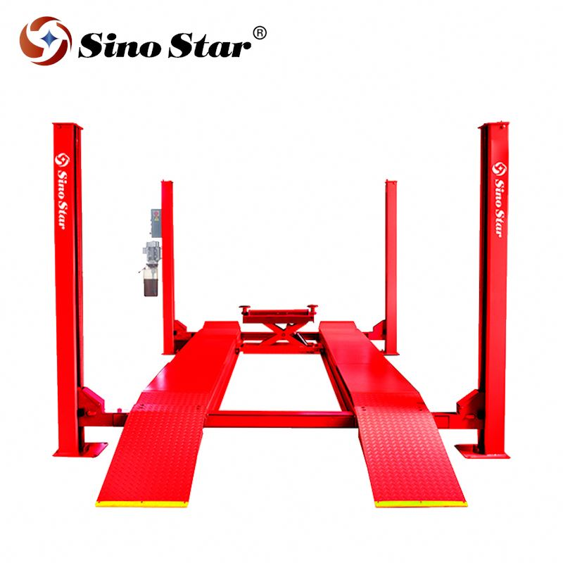 220V SS-CLDW50 5000kg High Quality Alignment Car Lift Ramps Four Post Lift