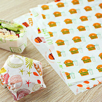 PE coated burger wrap paper waterproof burger wrapper natural sandwich packaging
