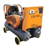 30kw 8bar one-piece portable electric air compressor for construction works