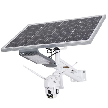Morden city outdoor public lighting 30w solar led street light with 4g/wifi camera