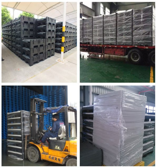 folding bulk shipping container,cheap plastic jumbo bin with lid and large cubic containers