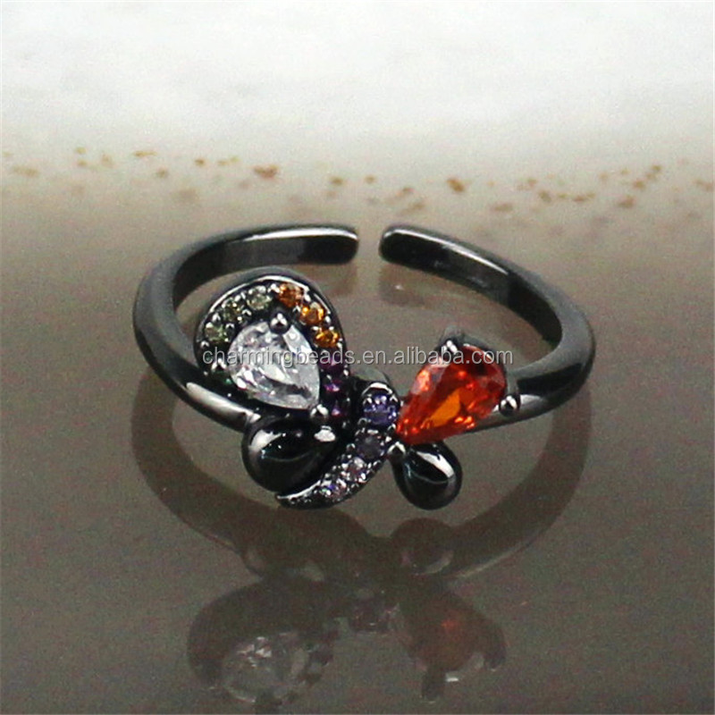 CH-HDR0016  stylish and exquisite cz charm ring, adjustable color ring, cz charm jewelry cheap wholesale