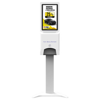 21.5 inch Wifi network and cloud server based ads display digital signage with hand sanitizer dispenser