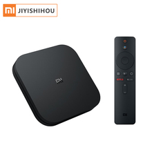 Global Version Xiaomi Mi Box S 4K HDR Android TV with Google Assistant <strong>Remote</strong> Streaming Media Player Mi TV Box S 4K