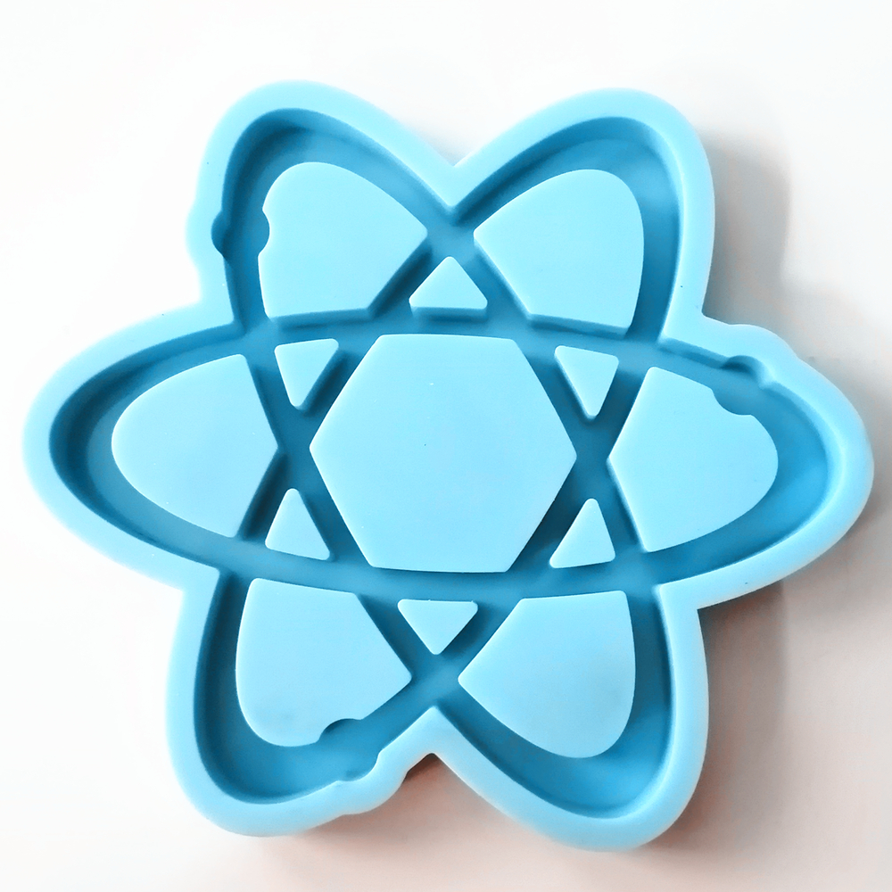 <strong>C002</strong> atom Coaster Resin Mould Resin Casting Silicone Mold