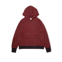 fashion unisex men wool cashmere contrast color with pocket hoody sweater
