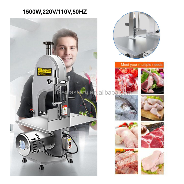 Factory price stainless steel home use household new used bone cutting bandsaw cutter machine electric meat saw