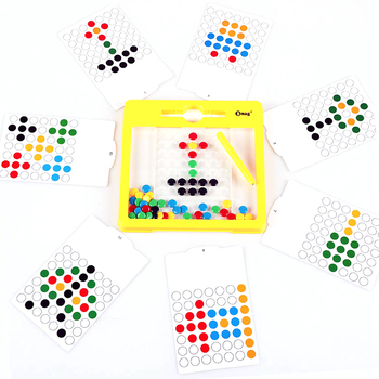 NO MOQ BMAG Educational Travel Doodle Magnatab Toys Creative Doodle Board Magnetic M&M Dots Drawing Tablet Board