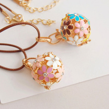 wholesale essential drop oil diamond engraving aromatherapy sachet ball <strong>necklace</strong>