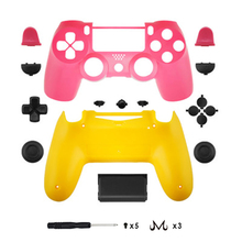 Game Accessories Soft Touch full Shells and button kits Faceplate for PS4 JDM-040 controller '
