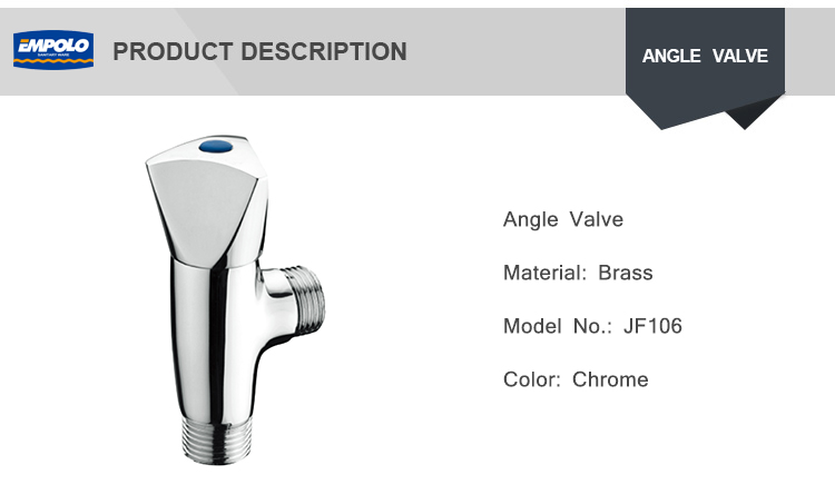 Wholesale Price Sanitary Fitting Polished Chrome Plated Brass Angle Valve With Filter