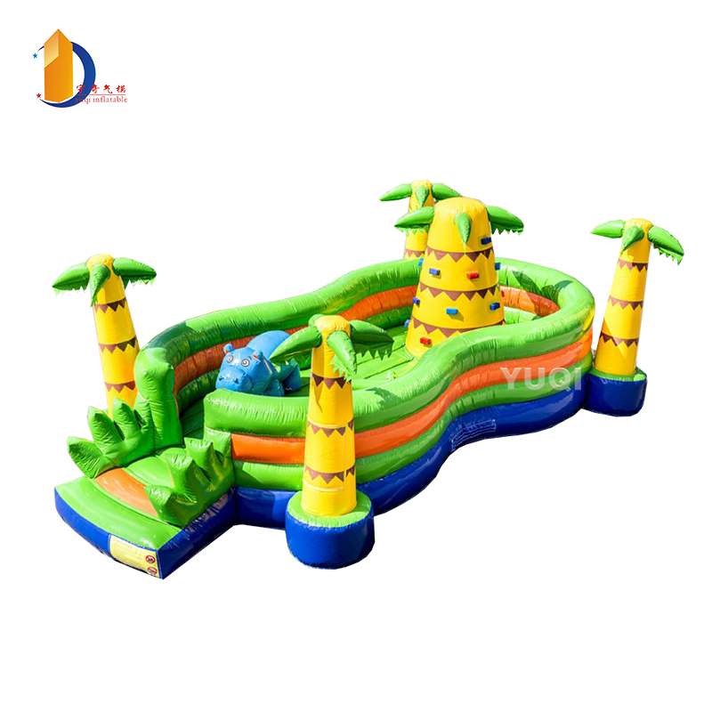Commercial Jungle inflatable jumping bouncer inflatable castle combo for sale