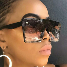 Custom 2020 Big Frame Rectangle Women Fashion <strong>Plastic</strong> Oversized Shades Sun Glasses <strong>Sunglasses</strong> Women