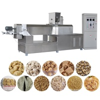 Soy bean meat processing machine/ textured vegetable soya protein making machines for sale