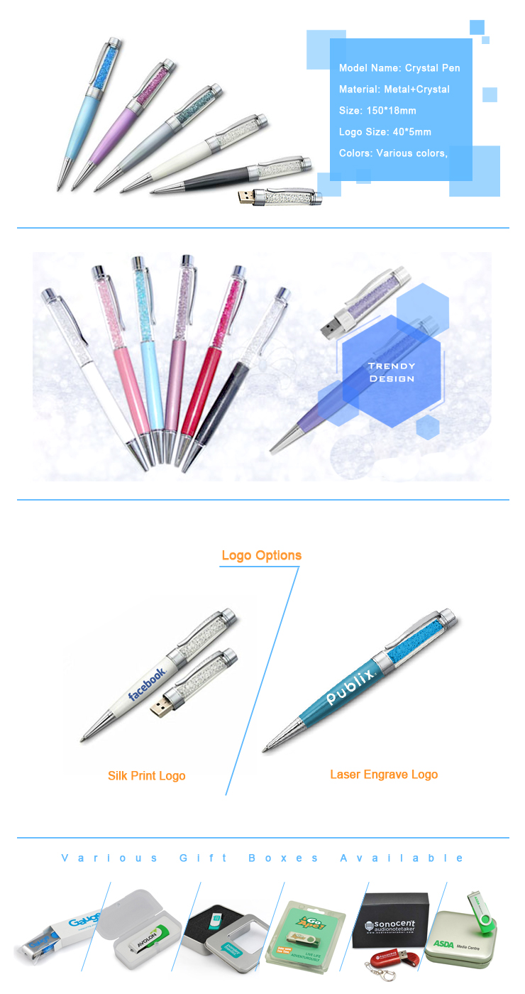 Custom Logo Pen USB 4gb USB Flash Drive