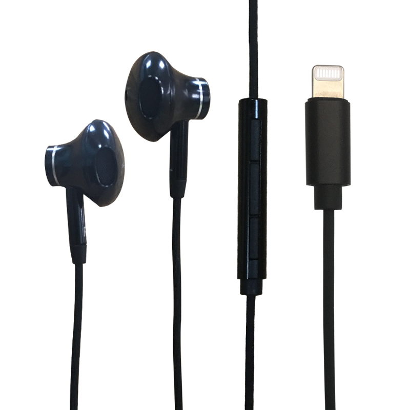 High quality Mfi certified Intelligent headphone with lightning <strong>C100</strong> connector digital earphone for iphone
