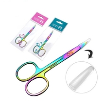 Colorful Stainless Steel Eyebrow Scissor Hair Trimming Repair the eyebrows Beauty Makeup Tool