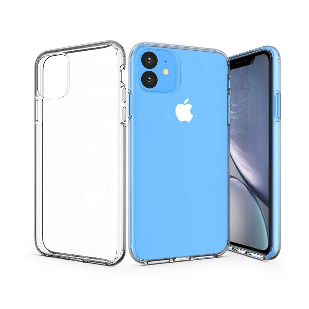 <strong>Phone</strong> protective case for iPhone11/ Pro / Pro Max, Crystal Clear Protection case, Hard Body + Soft Frame+UV coat, MC-012