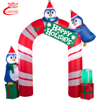 Decoration christmas arch inflatable christmas event gate door arch party inflatable