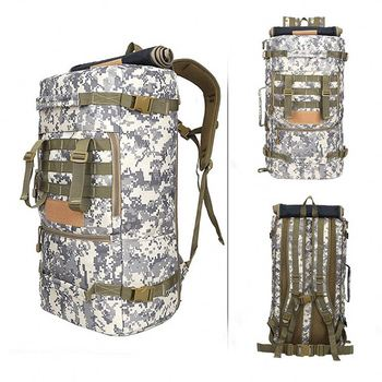 vintage camping snow camo rucksack roll top backpack huge Large capacity ventilated nylon sports army back pack OEM