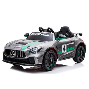 Mercedes Benz GT4 license ride on car cheap kids electric toy with leather seat for wholesale