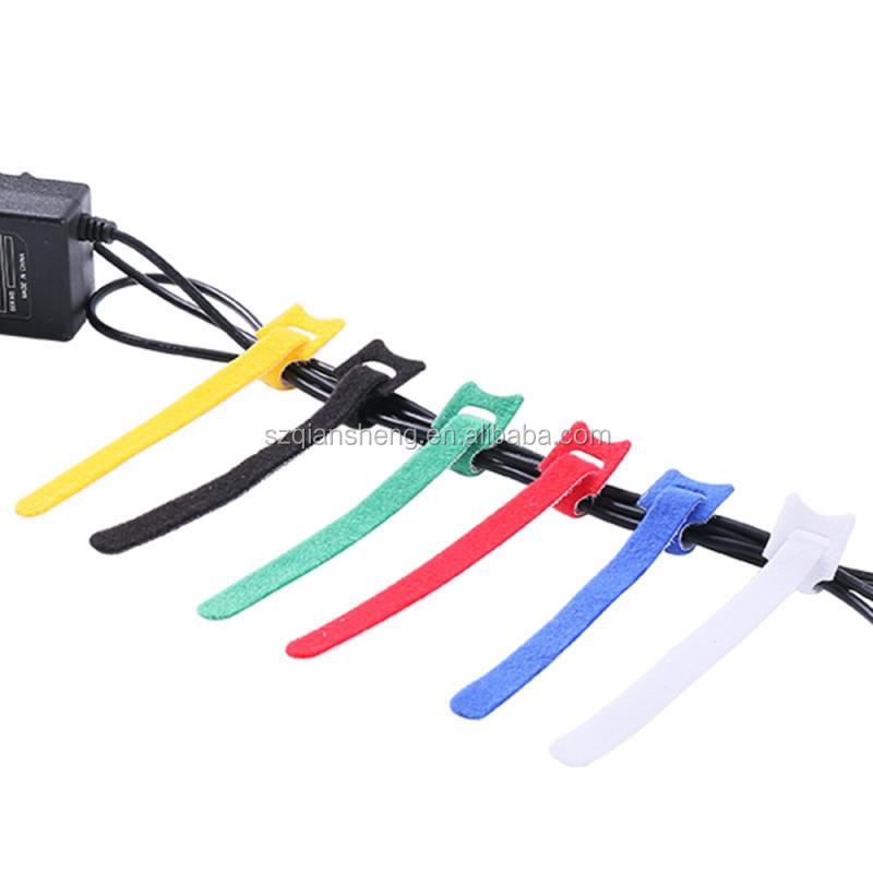 50Pcs Reusable Black Cable Cord Nylon Strap Hook Loop Ties Tidy Organiser Tool Hook Loop Cable Ties