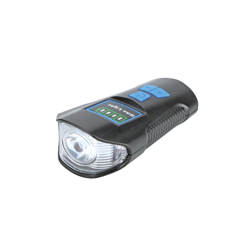 Portable USB rechargeable super bright front head bicycle light with horn