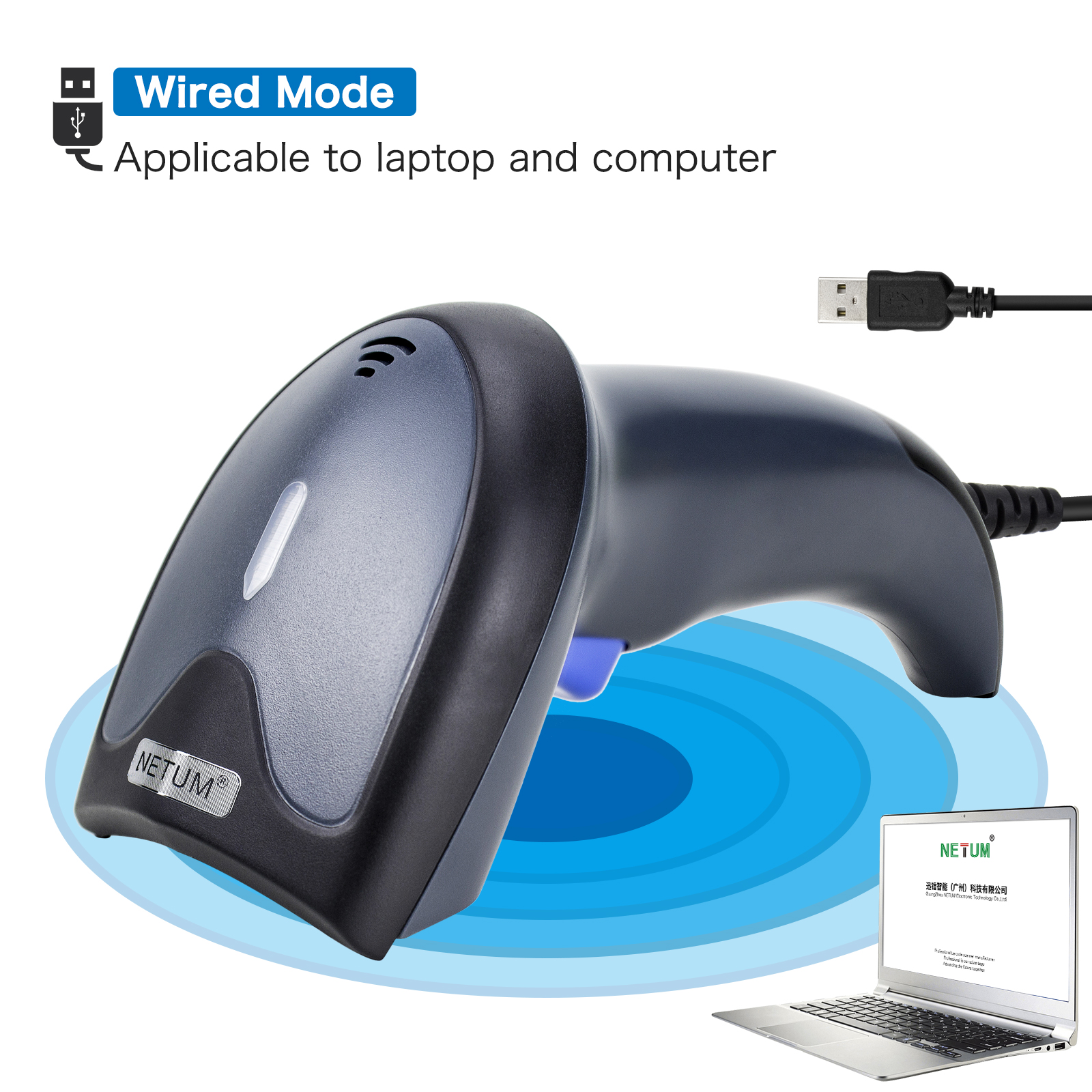 Factory Popular Bluetooth portable 1D 2D qr code reader wired wireless barcode scanner android with stand