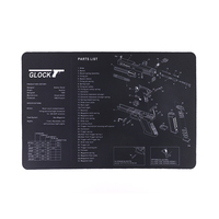 Glock Shooting Accessories Tactical Gun Cleaning Mat with Parts Diagram and Instructions for Use