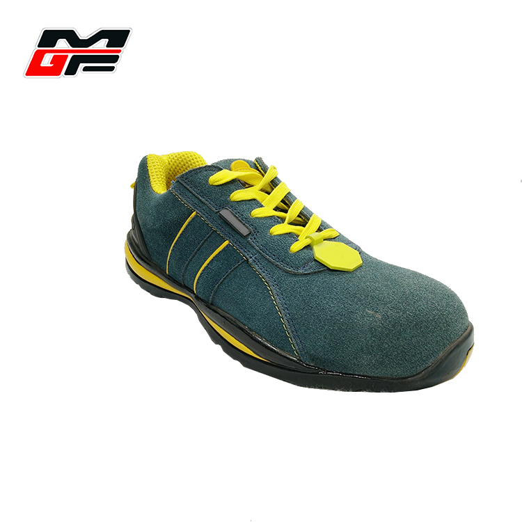 Fashion men's pu synthetic matte cemented construction shoes