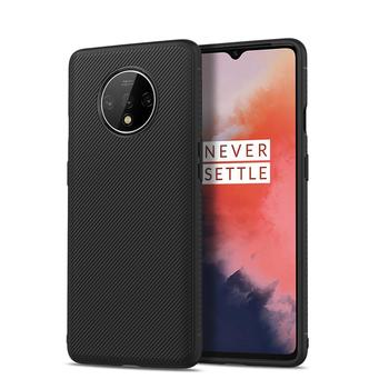 Light Weight Cross Grain Good Grip Edge Soft TPU Protect Back Cover Case For One Plus 7T / 7T Pro