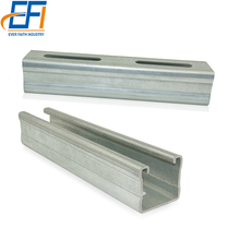Steel Supporting System Metal Electrical Perforated slotted galvanized strut steel gi c Iron channel