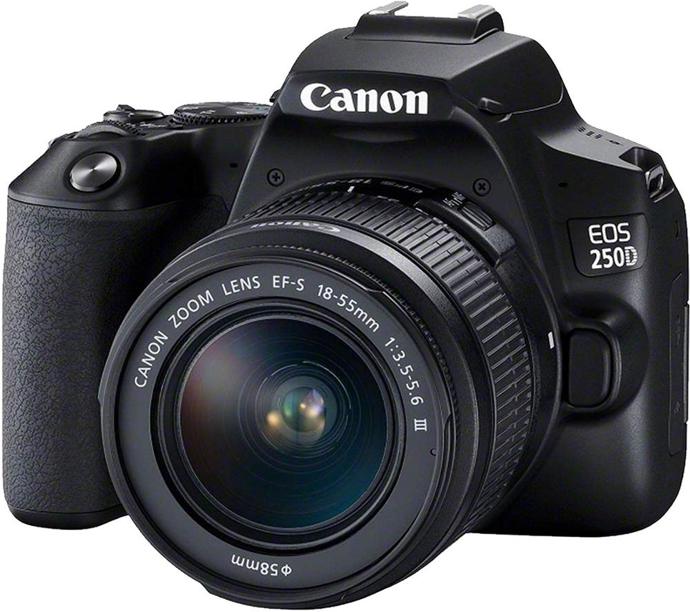 CANON EOS 250D KIT EF-S 18-55mm F3.5-5.6 III Lens Black (Rebel SL3 DSLR Camera KIT)
